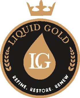 Liquid gold sticky logo